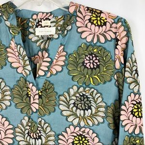 Loft | Floral Dotted Bell Sleeve Blouse